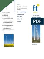FIT WInd Turbine Maintenance Program