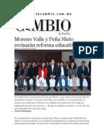 03-12-2013 Diario Matutino Cambio de Puebla - Moreno Valle y Peña Nieto revisarán reforma educativa