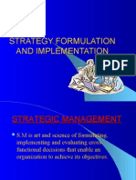 Strategy Formulation and Implementation Ch # Lecture