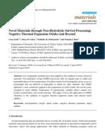 Novel Materials through Non-Hydrolytic Sol-Gel Processing