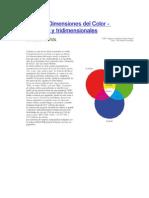 Síntesis y Dimensiones del Color
