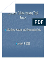 Southern Dallas Housing Task Force August 4