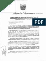 D.S.N° 070-2013-PCM Modif Reg ley transparencia