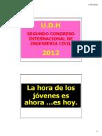 II Congreso. UDH. Calicanto
