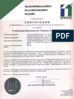 Certificado de La Calidad