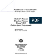 Student's Manual(Physic 2009 experiment)