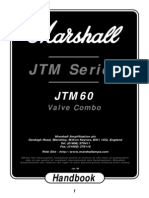 JTM60 amplificatore valvolare Marshall