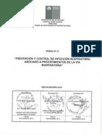 Norma n 10 Prevencion y Control de Infecciones Respiratorias Asociado a Procedimiento de La via Respiratoria Sexta Edicion 2012