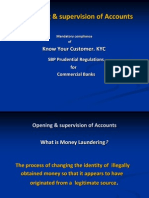 Opening & Supervision of Accounts