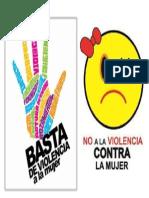 Cartel de No Ala Violencia