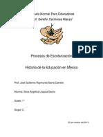 Procesos de Escolarizacion