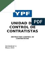 Instructivo Control de Contratistas