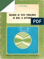 12973866 George Bontila Culegere de Teste Psihologice de Nivel Si Aptitudini