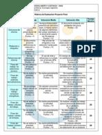Rubrica Evaluacion Proyecto Final 2013 II