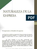 Naturaleza de La Empresa