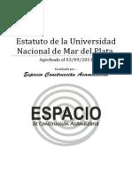 Estatuto de la Universidad Nacional de Mar del Plata (versión especial para imprimir)
