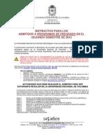 Instructivo Registro Admitidos Pregrado 2012-03