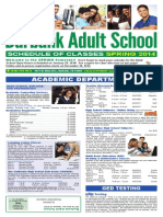 Burbank Adult School Spring 2014 Brochure