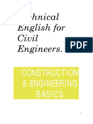 Technical English for Civil Engineers Construction Basics