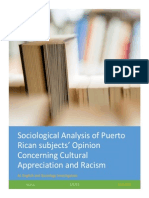 Sociological Analysis of Puerto Rican Subjects