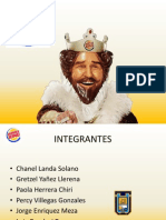 BURGER KING - Plan Estrategico