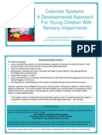 Brochure Calendar Systems a Developm Calendar Systems A Developmental Approach For Young Children with Sensory Impairmentsental Approach for Young Children With Sensory Impairments (Web)