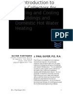 An Introduction to Solar Collectors for Heating & Cooling of Buildings & Domestic Hot Water Heating