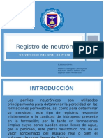 Registro de neutrón