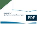2-FOUR - Appendix 2 Quality Improvement Plan Template of Guide to Developing a Quality Improvement Plan