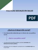 Polìticas sociales en salud
