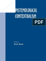 Blaauw(Ed). Epistemological Contextualism