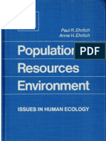 Population Resources Environment by the Ehrlichs (1972)