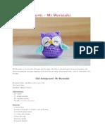 Owl Amigurumi - Mr. Murasaki