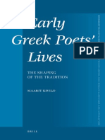 (Mnemosyne Supplements 322) Maarit Kivilo-Early Greek Poets' Lives. the Shaping of the Tradition (Mnemosyne Supplements - Volume 322) -Brill Academic Publishers (2010)