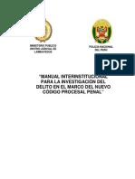 Manual Interinstitucional Para La Inv. Del Delito - Lambayeque