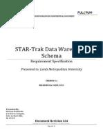 Star Trak Data Warehouse Schema v1 Draft