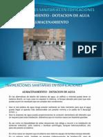 almacenamiento - dotación de agua