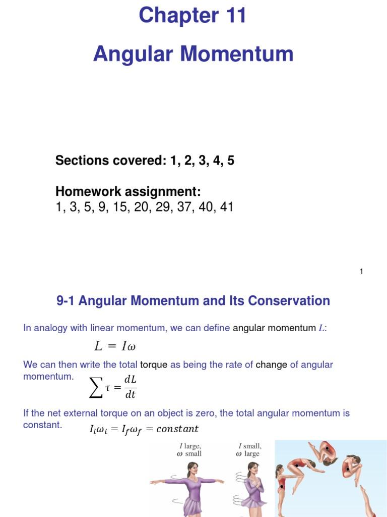 rate of change of angular momentum