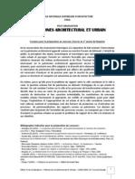 Synopsis Concours PG3 Patrimoine Architectural Et Urbain