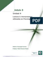 Lectura 3_ Herramientas utilizadas en Psicología Forense