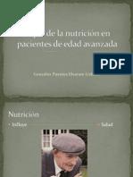 Papel de la nutrición en pacientes de edad