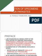 Examination of Specimens for Parasites