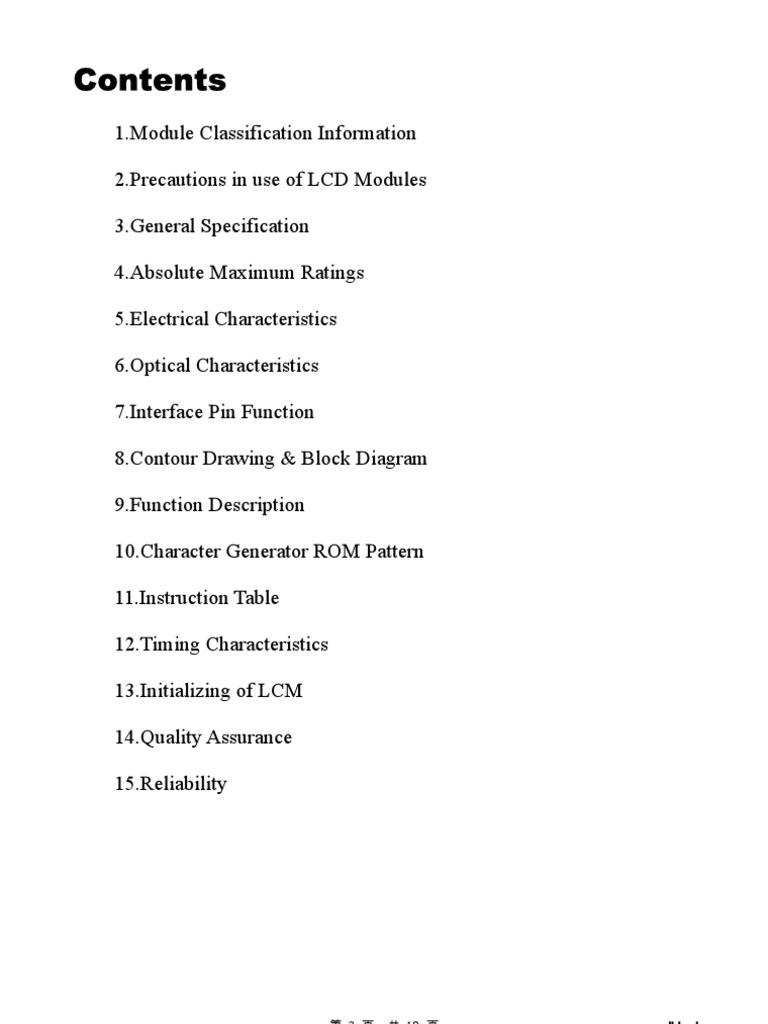 datasheet lcd 16x2