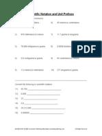 Scientific Notation and Unit Prefixes