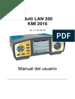 Manual Certificador Metrel LAN350