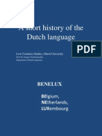 A Short History of the Dutch Language 2013