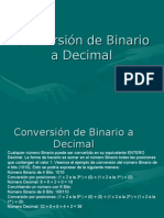 Conversion de Binario