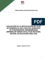 Plan Decenal de Educacion de Dosquebradas