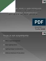 Presentation on Lighting Design by Tooba Imlak