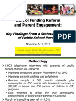 School Funding Reform and Parent Engagement